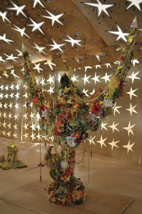 Hew Locke, Starchitect (ArtSway), 2011. Courtesy the artist and Hales Gallery, London.
